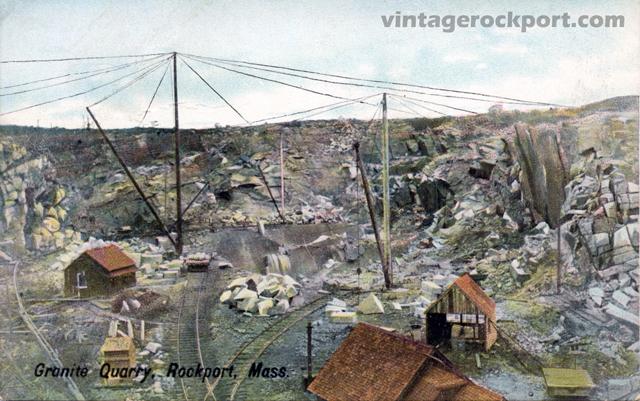 Granite Quarry, Rockport, Mass., circa 1910
