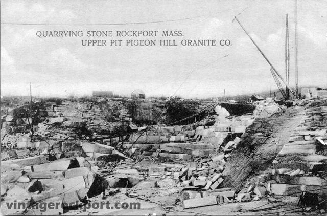 Steel Derrick Quarry, as an Active Quarry Circa 1910 (1/2)
