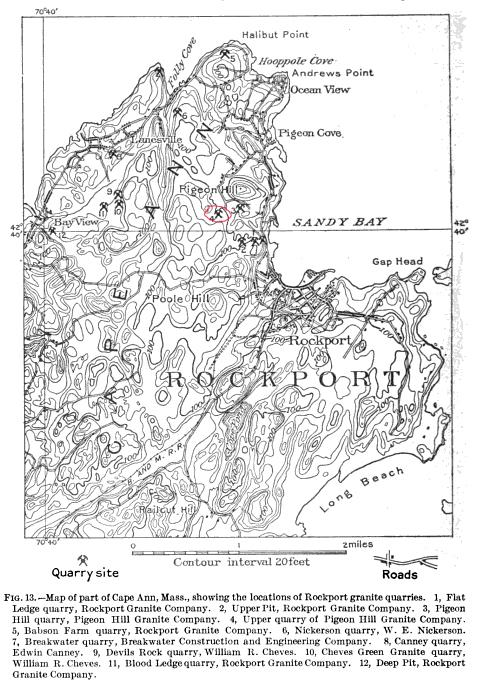 Steel Derrick Quarry, as an Active Quarry Circa 1910 (2/2)
