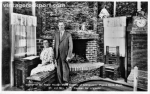 Mr. and Mrs. Elis Stenman Inside Their Paper House, circa 1932