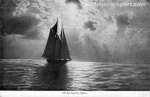 Schooner off Rockport, Mass., circa 1920