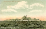 Warships Entering Sandy Bay Harbor, Rockport, Mass., c. 1907