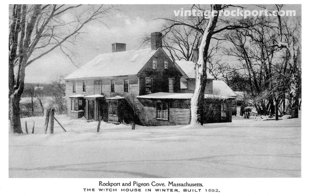 The Witch House in Winter, Pigeon Cove, Mass., circa 1920 (1/2)