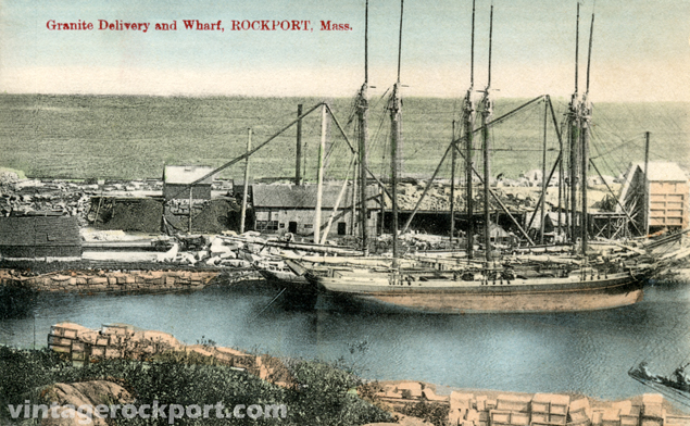 Granite Delivery and Wharf, Rockport, Mass.