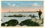 Twin Lights off Rockport, Cape Ann, Mass., circa 1902