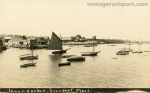 Inner Harbor, Rockport, Real Photo Postcard, circa 1910
