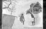 Shoveling Snow on Pasture Road, Pigeon Cove, Mass., c. 1905