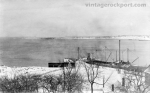 Wharf of Pigeon Hill Granite Co. in Winter, c. 1905