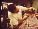 Walter Julian's Barbershop, Main St., Rockport, 1973