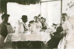A Shore Dinner at Haskell's Camp, circa 1910