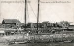 Sailors Resting on the Wharf, Rockport, Mass., circa 1906