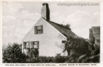 The Old Log Cabin, at the Foot of Cove Hill, Oldest House in Rockport, Mass.