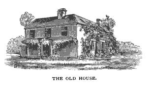 An 1873 view of the house, before the dormers were added.